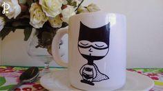 Tazas de cerámica sublimadas Diseño: Batman Tamaño: 10 cm de alto x 8,5 cm de diámetro. Aptas para microondas