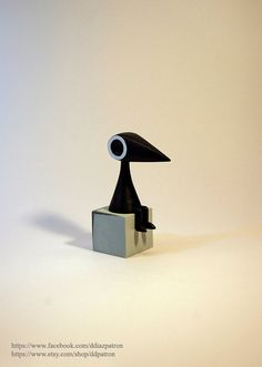 Crow Man. Monument Valley Game Figure.