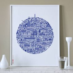'Paris, Je'Taime' is a highly original graphic interpretation of Paris, the most visited city in the world... and one of the most visually stunning.AVAILABLE IN TWO COLOURS: Blue on White or Red on White.A truly eclectic mix of subject matter. History, architecture, icons, culture, music, people and everyday life all combine in an intricate visual jigsaw that you will never tire of looking at. Another unique nickprints design incredibly detailed with over 500 icons! An ideal gift for anyone…