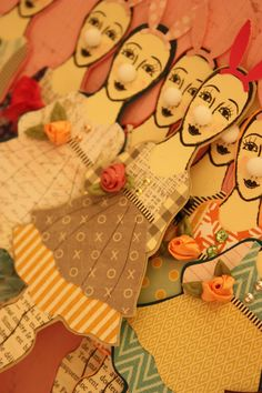 Paper Dolls by Jackie Peters working with Character Constructions art stamps
