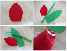 Sewing tutorial and pattern tilda tulips Sewing Patterns Free, Free Sewing, Sewing Tutorials, Sewing Ideas, Hand Sewing, Felt Crafts, Fabric Crafts, Sewing Crafts, Red Fabric