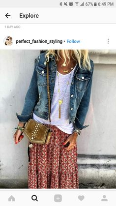 Boho-Stil Lässiger Chic Denim Design - Dieses Outfit hat alles ღ Stylish . Style Désinvolte Chic, Cute Casual Outfits, Casual Chic Style, Mode Style, Stylish Outfits, Casual Dresses, Trendy Style, Girl Style, Casual Shoes