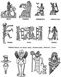 """Anunnaki or """"Those who from heaven came to earth"""" (i.e. ancient aliens originating from the planet Rigel in the Orion constellation) said to have traveled on a massive battleship planet…"""