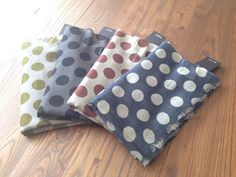 Polka dots scarves from Whiite's collection online now! Polka Dot Scarf, Polka Dots, Grey Scarf, Silk Wool, Danish Design, Charcoal, Coin Purse, Scarves, Purses