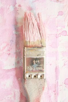 I don't think I have ever had pink paint on a paintbrush - ever! LOL It is strikingly beautiful in a girly way though! Pretty In Pink, Pink Love, Pastel Pink, Pastel Colors, Pink Color, Pink Art, Soft Colors, Blush Pink, Rose Bonbon
