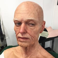 Old age test makeup, prior to wig application. 9 piece silicone prosthetics. #vvdfx #vincentvandykeeffects ...