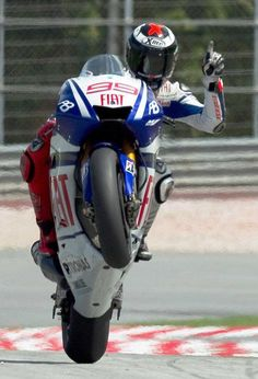 Jorge Lorenzo the pole position
