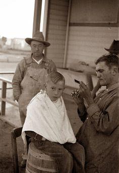 +~+~ Vintage Photograph ~+~+  Hair cut time ~ 1936