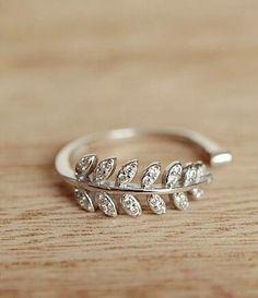 fashion bling leaf ring