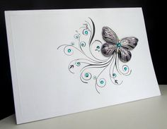 Altered art, butterfly card