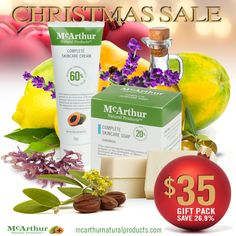 Gift Giving Made Easy - Choose from three Christmas Special Packs with massive savings up to 27.3% OFF  Our Christmas Elves have been busy this year and designed three great Christmas Pack ideas - $35, $50 and $60 Christmas Packs so you can save up to a massive 27.3% OFF to create a welcome Christmas present of premium skincare products for someone special in your life. Containing our unique McArthur Pawpaw Extract™, anyone would be delighted to find this Christmas gift under the tree.