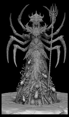 Mephala statue for The Elder Scrolls online, Ioannis Karathomas on ArtStation at https://www.artstation.com/artwork/mephala-statue