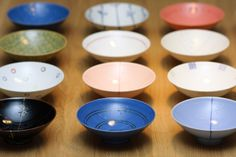 Japanese rice bowl designed by Masahiro Mori 白山陶器 平茶碗