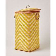 Best Indoor Garden Ideas for 2020 - Modern Woven Laundry Basket, Yellow Bamboo, Large Baskets, Night Lamps, Oliver Bonas, Stripes, Bamboo Basket, Nursery, Bathrooms
