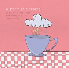 A storm in a teacup: a big fuss made about something of little importance