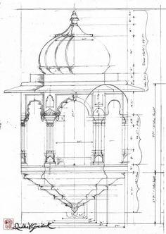 Drawings | Portfolios | Divyakala Indian Temple Architecture, India Architecture, Architecture Drawings, Ancient Architecture, Architecture Student, Temple Drawing, Mandir Design, Indian Illustration, Military Drawings