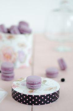 Macarons de amora e rosa