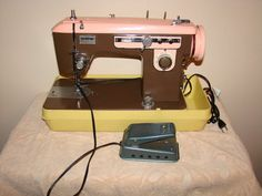 Vintage Brother CHARGER 651 MODEL C Sewing Machine with Case & Foot Pedal | eBay