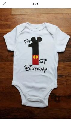 Onesie Mickey Mouse First Birthday | eBay