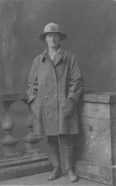 The Women's Land Army was founded in the Great War. With war volunteers, and then conscription, the farming community rapidly found itself stripped of a workforce and from 1915 women began to take the place of the men in the fields. By 1917 a quarter of a million women were working on farms across Britain.    This unknown worker wears a typical  a wide brimmed hat with the Women's Lan