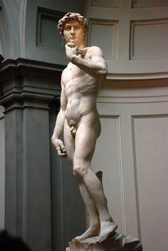 David ou Davi, é mais uma das obras primas de Michelangelo. A escultura retrata o herói bíblico e seu realismo anatômico impressiona. David é considerada por muitos a obra mais importante de Michelangelo, medindo 5,17 m, é hoje considerada o símbolo máximo da República de Florença. A obra pode ser visitada na Galleria dell'Accademia em Florença.