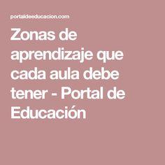 Zonas de aprendizaje que cada aula debe tener - Portal de Educación