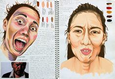 Sketch Book GCSE Art and Design Edexcel - Looking for art sketchbook ideas? This article showcases inspirational high school sketchbooks - inspiration for the student and teacher. Reflection Art, Art Design, Gcse Art Sketchbook, Identity Art, Art Diary, Art Studies, Book Art, Portrait Art, Art Portfolio