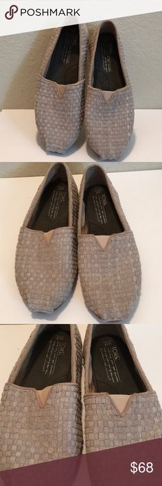 TOMS LADIES Size 7W Khaki woven Suede GR8 LOOK TOMS Make comfy casual anytime flat shoes. These are no exception, they look really nice , wish they were my size. Size 7. Very good condition, lots of years ahead in these. LAST PICTURE IS STOCK IN A LIGHTER COLOR.. 👀👀TAKE A LOOK 🕉📿👀🎀🛍❣️💄🍷👣 Toms Shoes Flats & Loafers