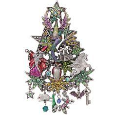Merlin's Dragon Christmas Tree Pin/Enhancer: Kirks Folly Online Web Store