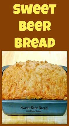 Sweet Beer Bread using self-rising flour. A VERY easy recipe and makes for a per… Sweet Beer Bread using self-rising flour. A VERY easy recipe and makes for a perfect side. Beer Recipes, Flour Recipes, Baking Recipes, Dessert Recipes, Easy Recipes, Desserts, Brownie Recipes, Bread Machine Recipes, Artisan Bread