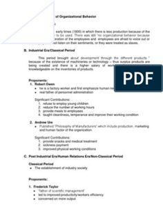 Historical Development of Organizational Behavior Biodata Format Download, Office Files, Organizational Behavior, Pdf