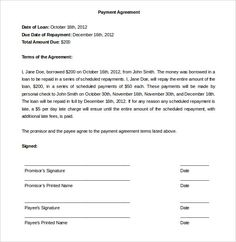 [ Payment Plan Agreement Template Free Word Pdf Documents Letter Sample  Arrangement ]   Best Free Home Design Idea U0026 Inspiration
