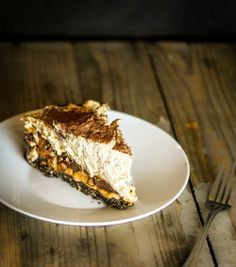 Chocolate Peanut Butter Banoffee Pie from Broad Appetite