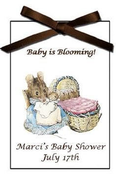 Vintage Baby Shower Personalized Baby Shower Flower Seeds