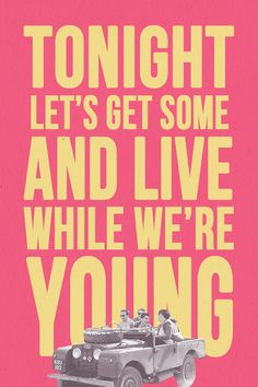 Live While We're Young-One Direction