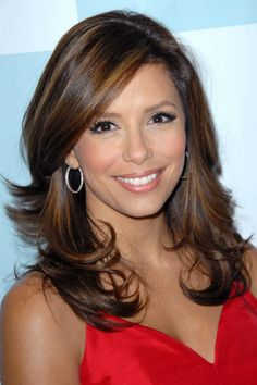with face framing layers- i love her honey colored highlights for spring and summer. so pretty.