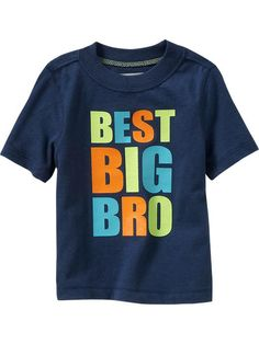 "{Crewe}Old Navy | ""Best Big Bro"" Tees for Baby"