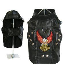 Born To Ride Motorcycle Harness Jacket - Black at BaxterBoo