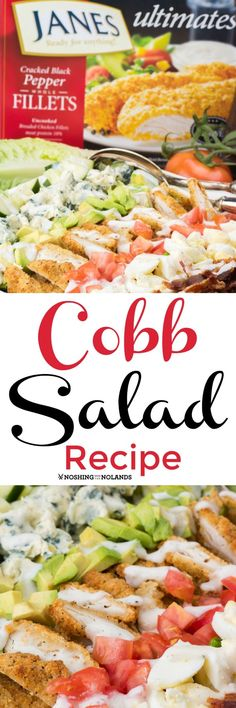 Cobb Salad Recipe by Noshing With The Nolands uses Janes Cracked Black Pepper Whole Chicken Fillets making this a scrumptious and easy dish to make! Check out our amazing giveaway too! Great Recipes, Dinner Recipes, Favorite Recipes, Top Recipes, Easy Recipes, Chicken Filet, Grilled Vegetables, Veggies, Stuffed Whole Chicken