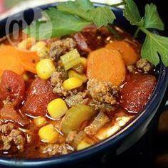 Sopa de carne moída e legumes @ allrecipes.com.br