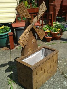 Windmill planter and barrel table. Plus project preview. | Woodworking for Mere Mortals