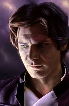 "amandatollesonart: "" Han Solo Portait by Amanda Tolleson drawn on corel painter with oil paint brushes "" Film Star Wars, Star Wars Han Solo, Star Wars Art, Star Trek, Han Solo And Chewbacca, Han And Leia, Saga, North And South, Corel Painter"
