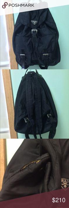 Prada backpack Prada Backpack - signs of wear including a 2 inch tear, easy fix though. Prada Bags Backpacks