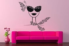 Wall Vinyl Sticker Decals Mural Room Design Pattern Woman...