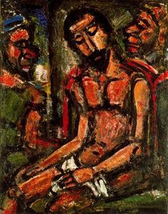 Georges Rouault -Cristo ultrajado - 1932. Óleo sobre tela. 92 x 72,4 cm. Colección, The Museum of Modern Art. Nueva York. EEUU.