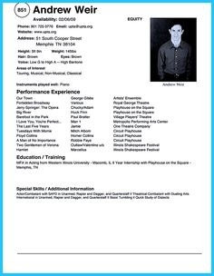X Actor Resume Template  X Actor Resume Template  Instant