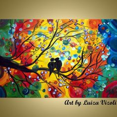 Modern Abstract Romance Art for Sale & Original abstract vibrant love paintings - ARTbyLuizaVizoli