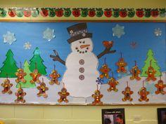 Christmas Bulletin Board Decorations, Christmas Classroom Door, Winter Bulletin Boards, Preschool Bulletin Boards, Christmas Decorations, Classroom Board, Christmas Door, Tree Decorations, Classroom Ideas
