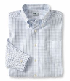 Wrinkle-Resistant Pinpoint Oxford Cloth Shirt, Traditional Fit Tattersall: Traditional Fit | Free Shipping at L.L.Bean
