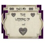 Gothic style Wedding RSVP card #weddinginspiration #wedding #weddinginvitions #weddingideas #bride